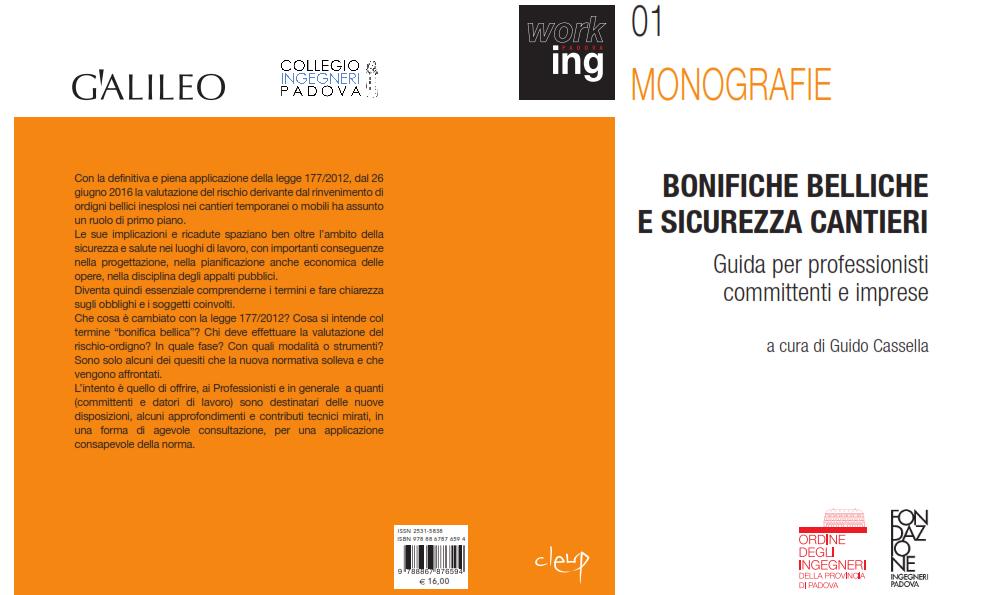 Copertina Monografia Bonifiche Belliche